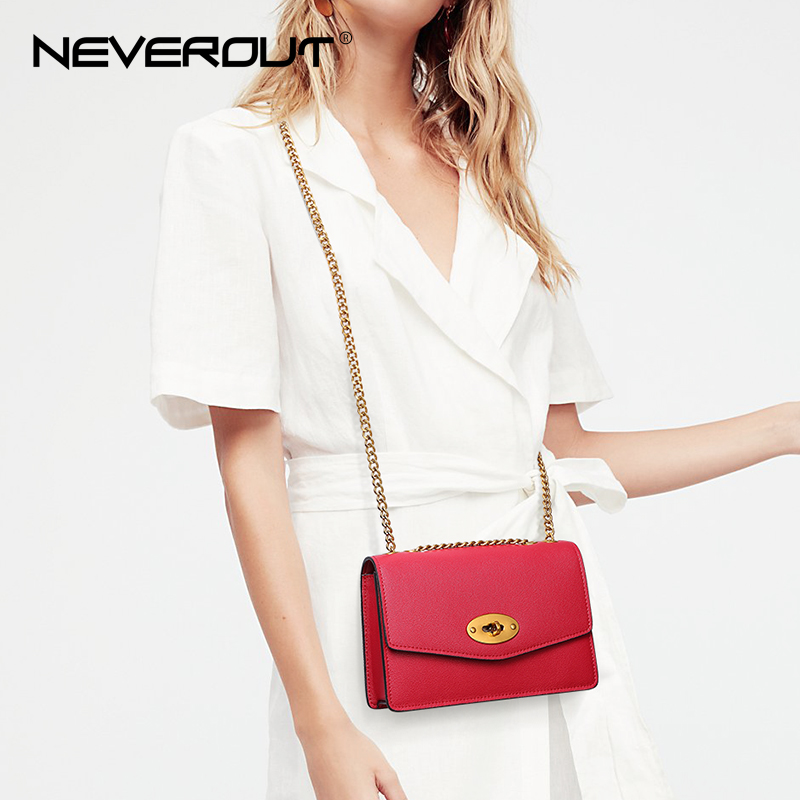 NeverOut Summer Lady Crossbody Bag Split Leather Shoulder Sac Women Solid Small Flap Bags Brand Name Female Messenger Chic Bag new summer brand women messenger bag pu leather women shoulder bag lady vintage small crossbody bags