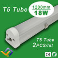 2pcs/lot  Factory sale 1200mm no dark space 18W  led t5 tube highly cost effective SMD2835 flurescent lamp 110/220/230v