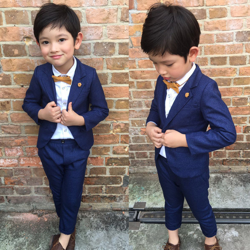 Spring Autumn Toddler Baby Boys Clothes Set Gentleman Formal Boys Blazer Jacket Set Boy Suits For Weddings Children Clothing Set new arrival children clothing set baby boys spring