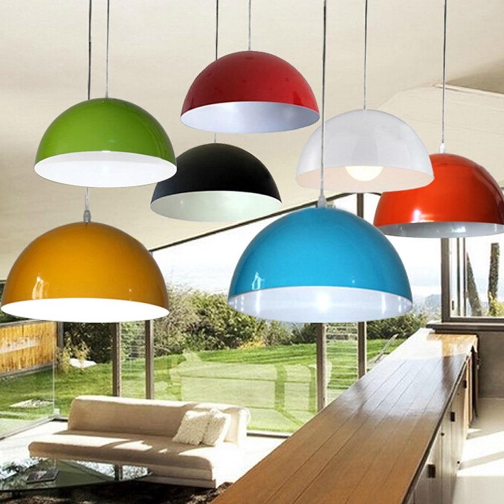 Amazing Colorful European Designed Aluminum Pendant Lights Modern Brief Bedroom  Semi Cirle Lamps Bar Single Pendant Lamp Decors Dia 30CM In Pendant Lights  From ...