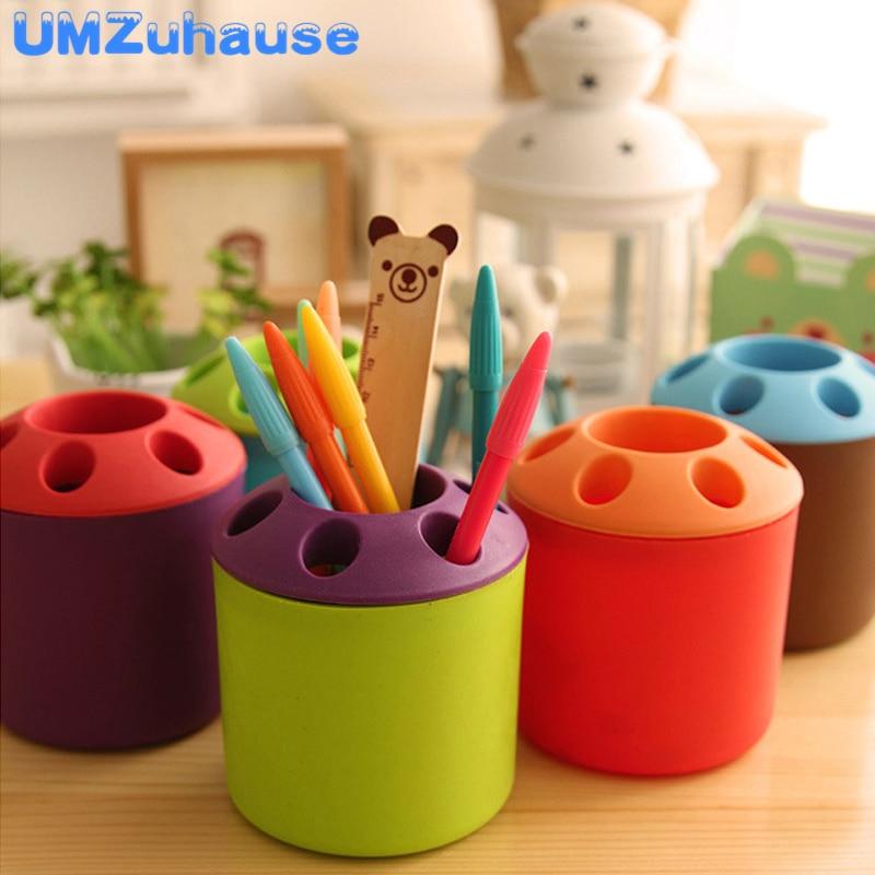 Creative Pencil Pot Office Desk Organizer Storage Makeup Brush Holder Pen Stands Toothbrush Home Organize Box Table Organization