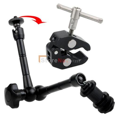 bilder für (10 stücke Magic Arm + 10 stücke Clamp) 11 Zoll New Articulating Magic Arm + Super Clamp für Dslr-kamera LCD/Monitor/LED-licht Halter
