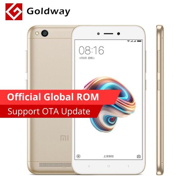Оригинальный мобильный телефон Xiaomi Redmi 5A 5 A с глобальной прошивкой, 2 Гб ОЗУ, 16 Гб ПЗУ, четырехъядерный процессор Snapdragon 425, 3000 мАч, 5,0 дюйма, 13,0 МП, камера MIUI 9