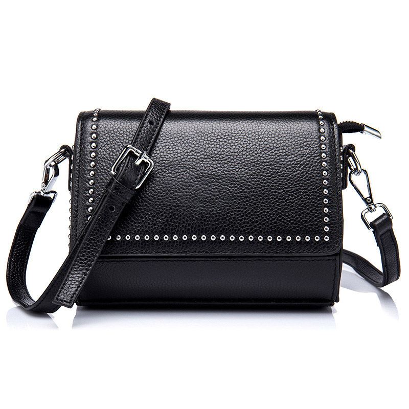 Fashion Women Genuine Leather Shoulder Bag Ladies Messenger Bags  Phone Pouch For Female Girl Designer Mini Crossbody Bag fashion women messenger bags real leather designer ladies shoulder crossbody bags genuine cow leather small mini bags for women