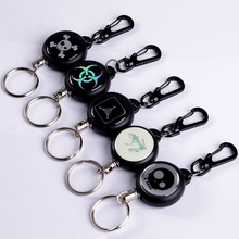 Keychain Carabiner Key-Ring Multi-Tools Retractable Outdoor Survival Camping Badge Anti-Lost