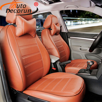 AutoDecorun leather car seat covers for Renault Scenic 2 3 seat covers for cars accessories 5 & 7 seats cushion supports covers