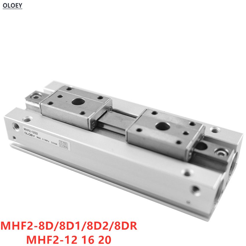 MHF2-8DR Air Pneumatic Gripper Cylinder Bore:8 12 16 20mm 8DR 12D1R 16D2R 16D1R series with strong gripping force Sliding tableMHF2-8DR Air Pneumatic Gripper Cylinder Bore:8 12 16 20mm 8DR 12D1R 16D2R 16D1R series with strong gripping force Sliding table