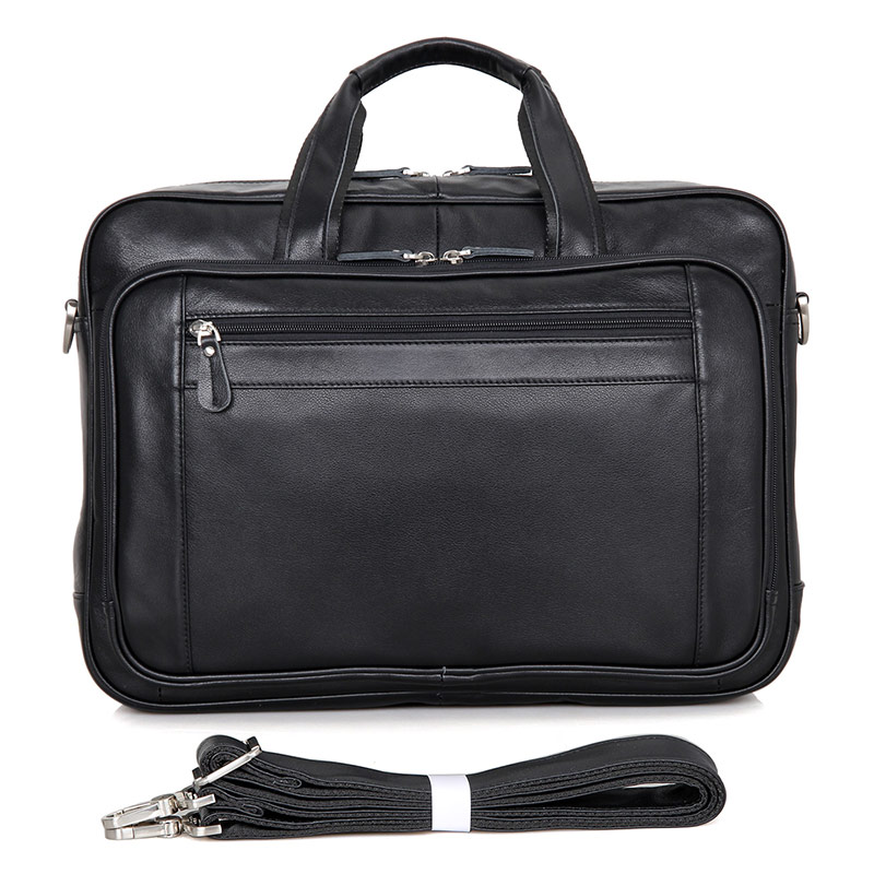 J.M.D J.M.D  Genuine Leather Briefcase Bag Black Handbag Laptop Bag Large Capcity Tote Casual Travel Bag For Men 7367A high quality authentic famous polo golf double clothing bag men travel golf shoes bag custom handbag large capacity45 26 34 cm