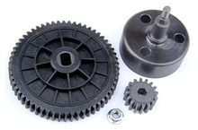 R/C racing car parts,NEW- Clutch Bell and 58T/16T High Speed Metal Gear Set for 1/5th RC Gas Model Car/for baja