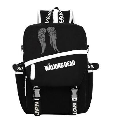 The Walking Dead Hoodie Zombie Daryl Dixon Wings Backpacks Student Shoulder Bags