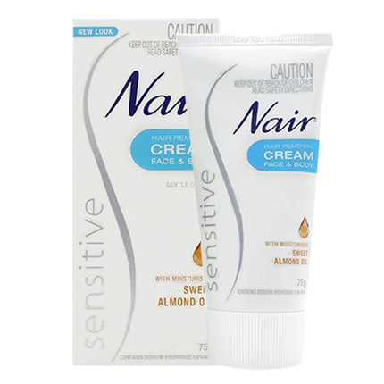 Nair Hair Removing Cream Sensitive Skin 75g Sweet Almond Oil