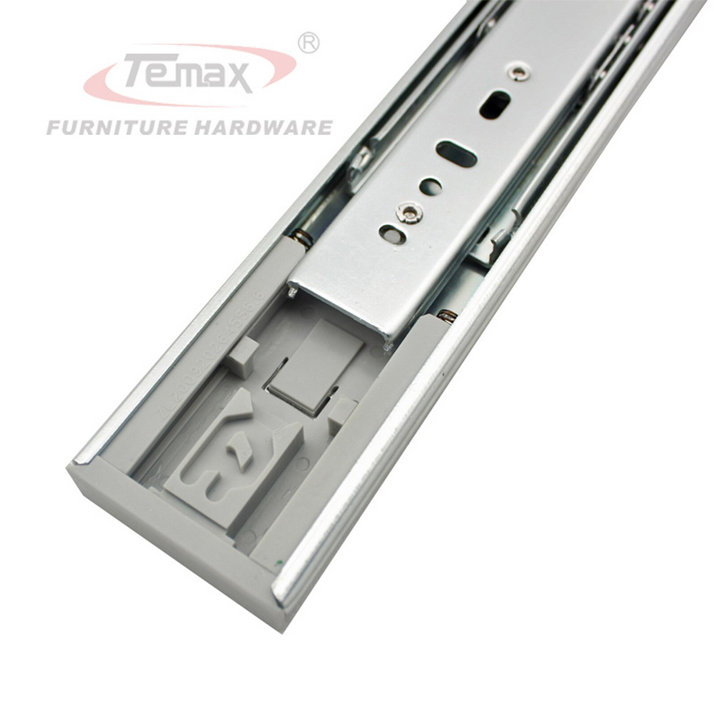 16 push to open drawer slide with 3 section device ball bearing