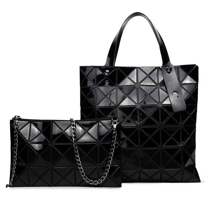 Women Fashion BAOBAO Bag Issey Miyake Geometry Package Inferior smooth  Sequins Mirror Saser Plain Folding Handbags + wallet-in Top-Handle Bags  from Luggage ... efbf2c3de4