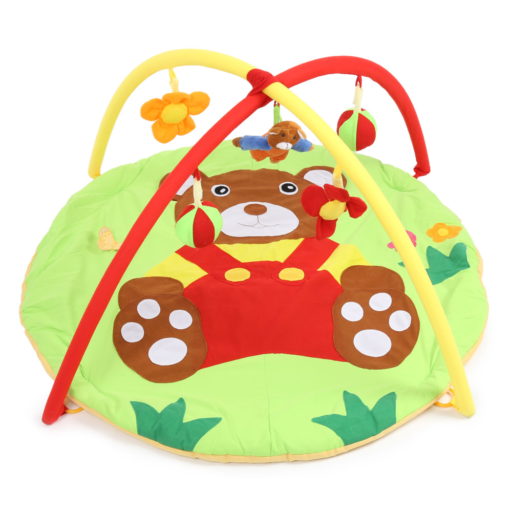 2018 Hot Baby Play Mat Bear Gym Blanket With Frame 0-12 Months Educational Infant Boys Girls Rug Floor Mat Baby Activity Mat комплект ковриков в салон автомобиля novline autofamily mitsubishi pajero sport 1997 2008