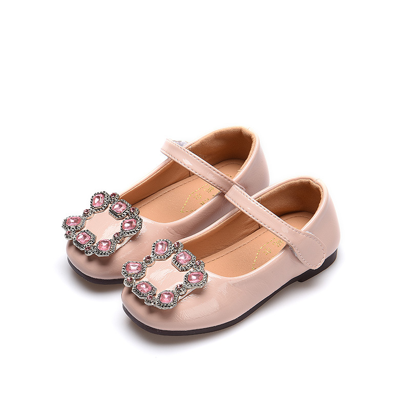 Pink Black Red Girl Shoes 2018 New Children Princess For Girls Rhinestone Kids 3 4 5 6 7 8 9 10 11 12 13 14Years Old