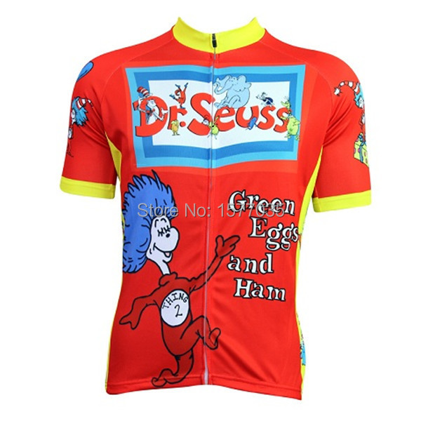 Ropa Ciclismo de dibujos animados manga corta Ciclismo jersey dr ...