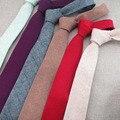 Comercial de Luxo Mens 100% Gravata De Lã Clássica Gravata Gravatas Dos Homens Da Forma Do Estilo Do Vintage Designer Estilo Europeu Feito À Mão Laços