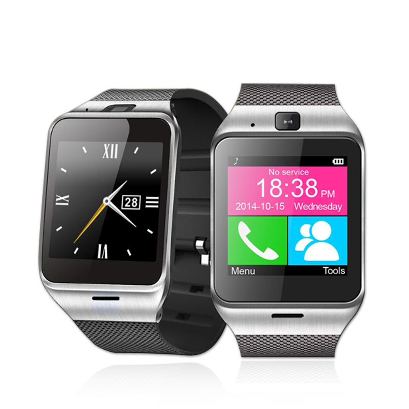 Bluetooth Smart Watch Health Mp3 Waterproof Pedometer Android Smartwatch Gv18 with SIM Card Mobile GSM Wearable
