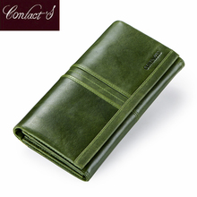 Long Women Wallet Zipper Phone Bag Genuine Leather Wallet New Ladies Coin Purse Card Holder Female Clutch Wallets High Quality