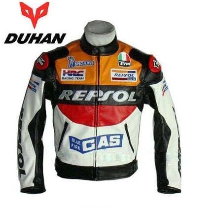 Духан moto GP moto rcycle REPSOL Гонки кожаная куртка VS02 orange синий M, L, XL, XXL 3XL качественная полиуретановая кожа leahter сделал высокое качество Быстрая