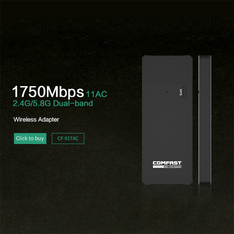 Gigabit Wireless wifi adapter 1750mbps 11AC 802.11ac dual band usb ...