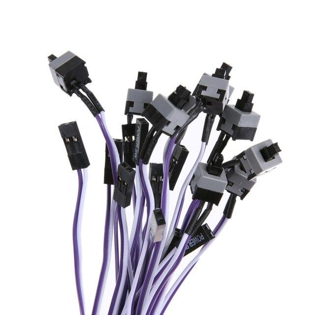 10pcs/lot Computer Host Switch Line Restarting Power Line AXT Computer Chassis Power Switch Line Power Cable Hot Sale Promotion