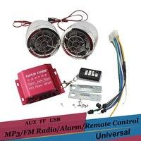 12 v Argent Moto Audio Haut-parleurs FM Radio USB AUX TF Carte Lecteur MP3 Stéréo Amplificateur Télécommande Anti-vol Système D'alarme