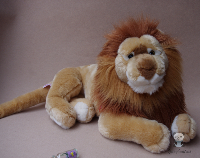 Large Toy Plush Doll African Lion Stuffed Toys Simulation Animals Children Pillow Gift