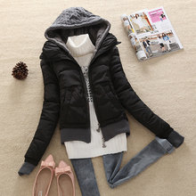 Coats And Jackets Nice New Autumn Winter Women Slim Hooded Knitted Down Coat Ladies Cotton Padded Sweater Jacket M-XL CP1183
