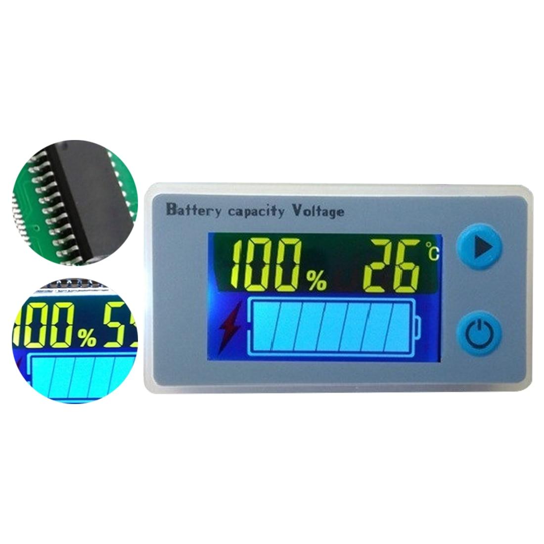 Universal LCD Car Acid Lead Lithium Battery Capacity Indicator Digital Voltmeter Voltage Tester Monitor JS-C33  10-100V