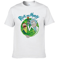 Summer Fashion Rick Morty T Shirt Men Anime T Shirts Peace Among Worlds Folk Cartoon Cool