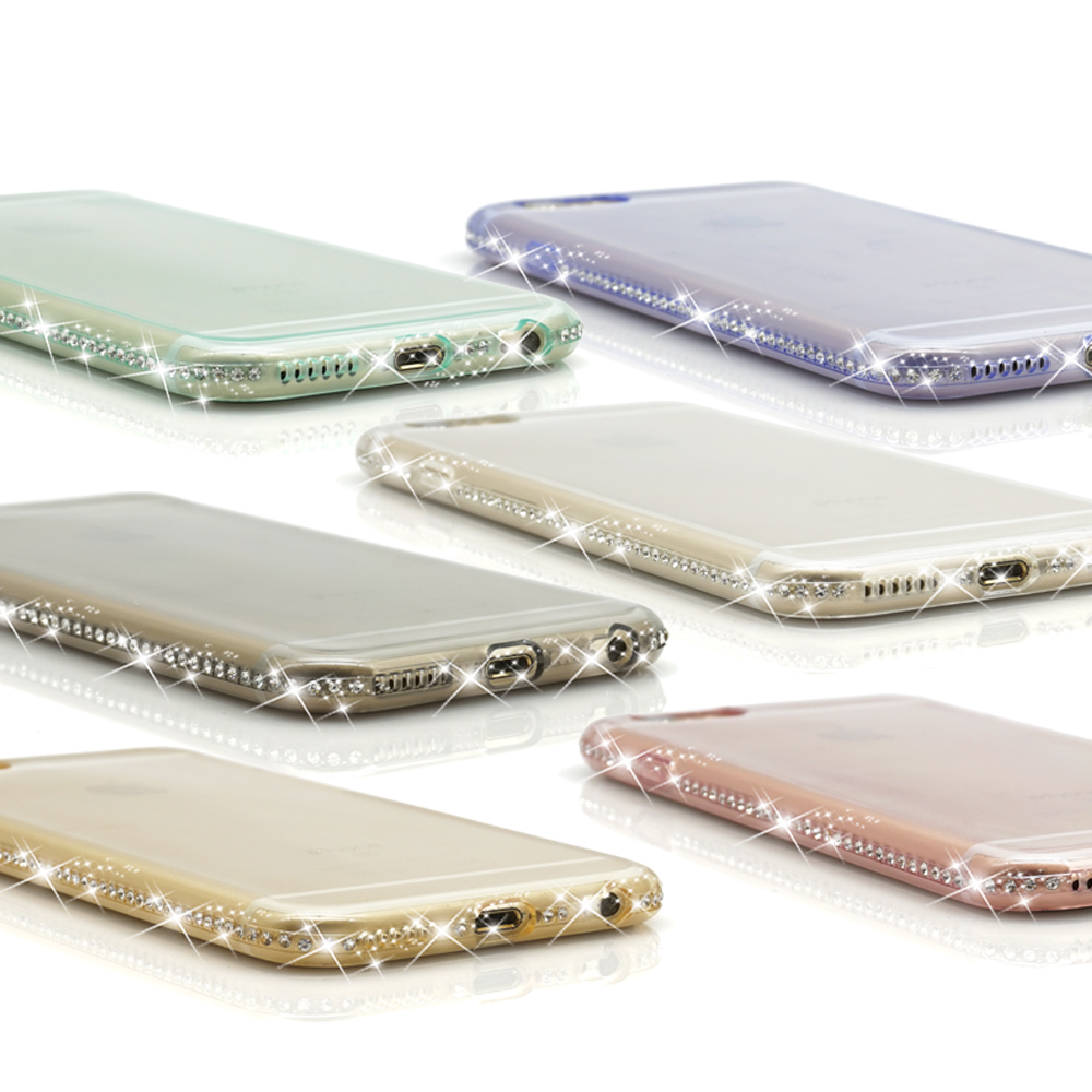 For Coque iPhone 6 Paillettes 5 5S SE 6S 7 Silicone Souple iPhone6 6plus Case Cover housse telephone Luxury Accessories luxueux (45)