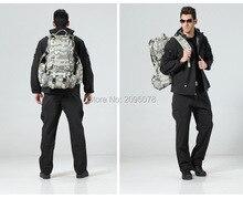 Jacket Pants TAD Shark skin Pure colour tactical jacket men set hooded outdoor hiking Mountaineering fleece