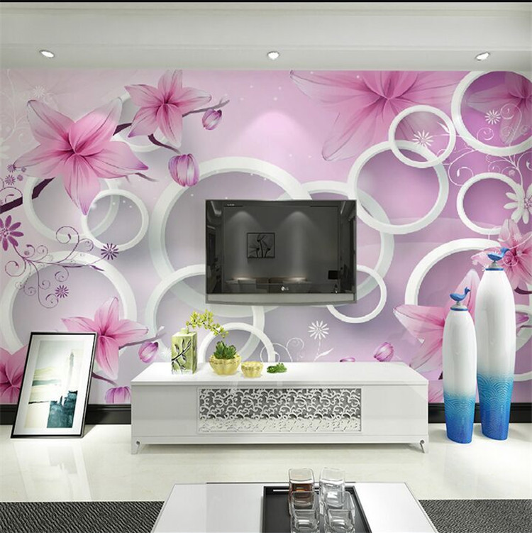Flower Wall Mural Picture More Detailed Picture About Elegant