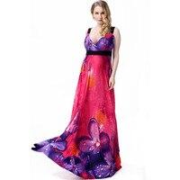 Большой размер XL-7XL макси платье женщины длинное платье летний стиль элегантные дамы одежды сексуальная печать рукавом большой размер Vestido ...