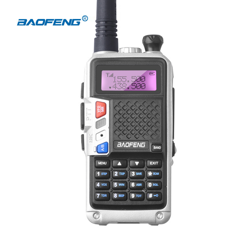 BaoFeng UV5R Walkie Talkie FF-12P versão Atualizada-longo alcance Portátil CB radio Dual Band VHF UHF FM Profissional Caça rádio