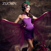 Fashion Maternity Photography Props Maternity Dresses for Photo Shoot Vestidos Infantil Gown Pregnant Clothing Women Dress GH405