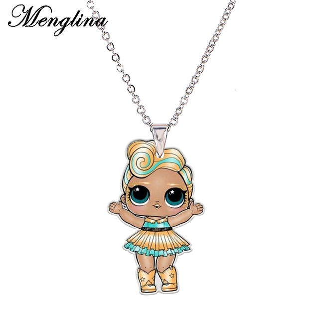 Menglina acrylic cute girl necklaces pendants for little girl menglina acrylic cute girl necklaces pendants for little girl flatback resin cartoon doll charm necklace aloadofball Images