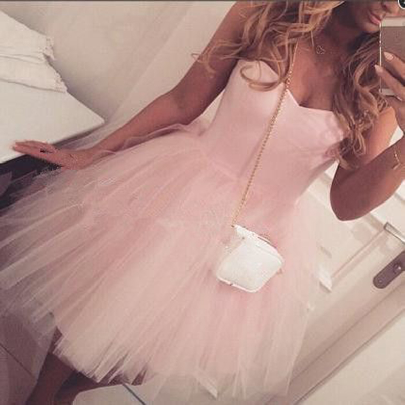 Lovely Pink Short Homecoming Dresses 2016 Sexy Semi Formal Dresses
