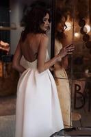 LORIE Cheap Short Wedding Dresses 2019 Spaghetti Straps Robe De Mariage Satin Bridal Dress Elegant Half Calf Wedding Gown