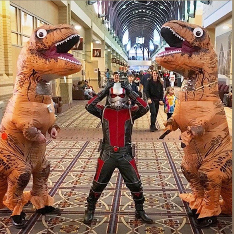 Novelty & Gag Toys Oloey Inflatable Costume Adult Kids Dinosaur T Rex Costumes Cosplay Cartoon Blow Up Fancy Dress Mascot Purim Jumpsuit#trex001 Always Buy Good