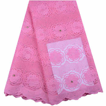 2019 Latest Pink Nigerian Laces Fabrics High Quality African Laces Fabric For Wedding Dress French Tulle Lace With Beads Y1420 - DISCOUNT ITEM  41% OFF All Category