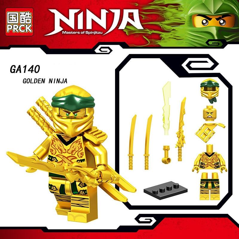 Single Sale Legoinglys Ninjagoed Figure COLE PYTHO YANG GOLDEN NINJA KAI ZANE Bricks Building Blocks Learning Toys For Kids Gift