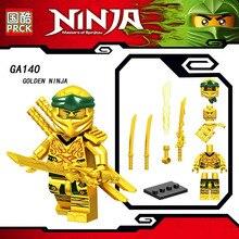 Одна Legoinglys Ninjagoed фигурка Коул Пито Ян Золотой ниндзя KAI ZANE кирпичи здание блокирует Обучение игрушки для детей подарок
