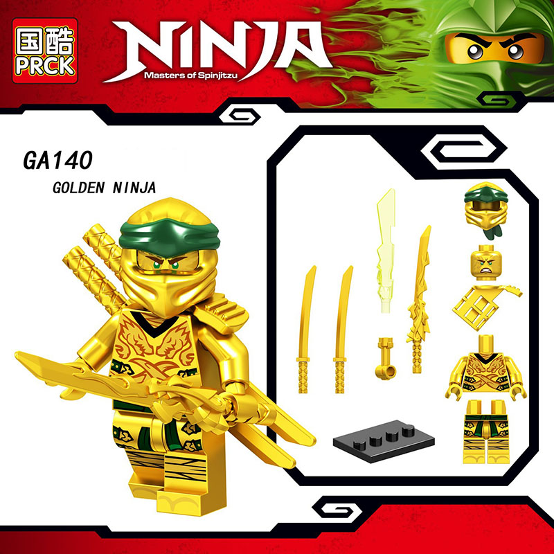 Single Sale Legoinglys Ninjagoed Figure COLE PYTHO YANG GOLDEN NINJA KAI ZANE Bricks Building Blocks Learning Toys For Kids Gift