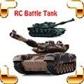 Nueva Venida de Regalo CHOCAN Contra Tanques de Batalla 8 Canal 1/24 RC Tanque de Infrarrojos Disparar Juguetes Eléctricos Vehículo Del Ejército Guerra Grande tanque