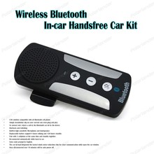 Handsfree mini car-styling Bluetooth ABS sun visor For Smartphones with car charger MP3  Player black