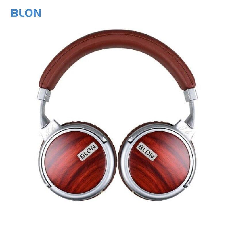 BLON S6 Hi FI Wooden Headphone Dynamic Studio Monitor Audio Earphone Headphones DJ Stereo Metal Headset Headband Auriculares