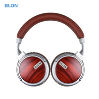 BLON S6 Hi FI Wooden Headphone Dynamic Studio Monitor Audio Earphone Headphones DJ Stereo Metal Headset Headband Auriculares
