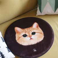 Welcome floor mats cartoon cushion cute cat face printed carpets soormats for kitchen bathroom living room snti slip pad tapete